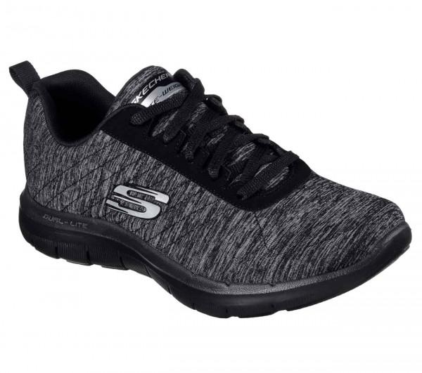 Skechers Flex Appeal 2.0 Damen Sneaker (Schwarz-BKCC)