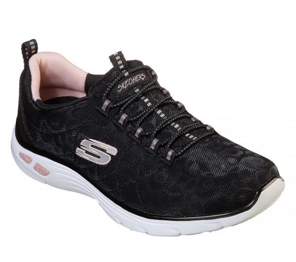 Skechers Empire D'Lux-Spotted Damen Sneaker 12825 (Schwarz-BKRG)