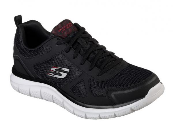 Skechers Track-Scloric Herren Sneaker (Schwarz-BKRD)