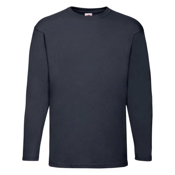 Fruit of the Loom Herren Langarm T-Shirt 5er Pack 61-038-0 (Blau AZ)