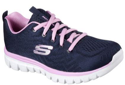 Skechers Graceful - Get connected Damen Sneaker 12615 (Blau-NVPK)