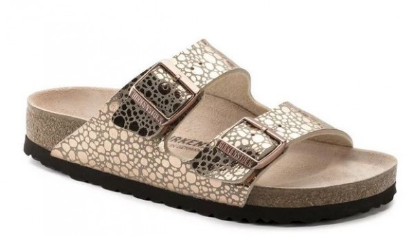 low priced ddade 9912e Birkenstock Arizona Birko-Flor Damen Sandale schmal 1006685(metallic/gold)
