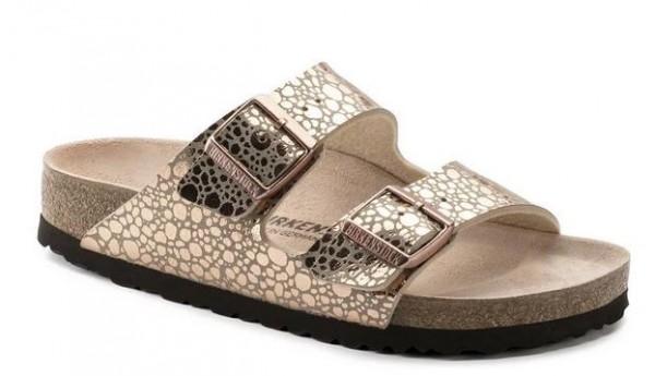 Birkenstock Arizona Birko-Flor Damen Sandale schmal 1006685(metallic/gold)