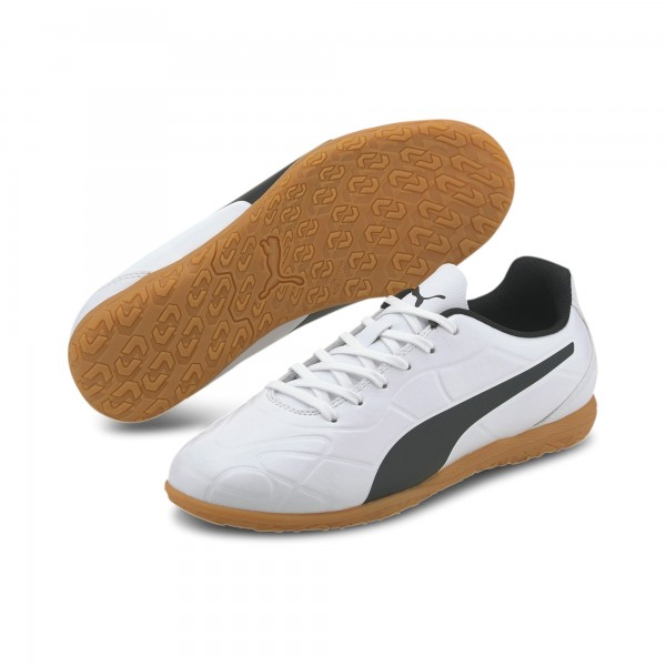Puma Monarch IT Jr Kinder Fußballschuhe 105727 (Weiß 02)
