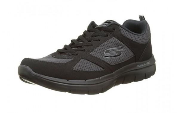 Skechers Flex Advantage 2.0 Herren Sneaker 52180 (Schwarz-BBK)