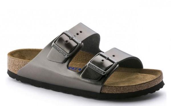 Birkenstock ARIZONA NL Birko-Flor schmal Damen Sandale 1000295(Grau)