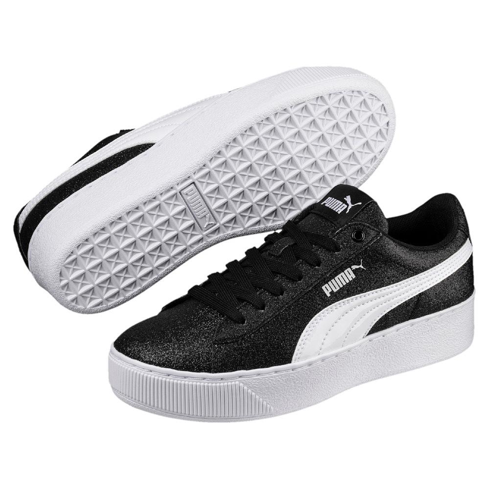 Puma Vikky Platform Glitz AC PS Kinder Sneaker 366858 (black white 02)
