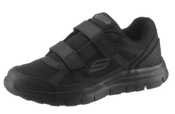 Skechers Flex Advantage 1.0 - Estello Herren Sneaker 58365 (Schwarz-BBK)