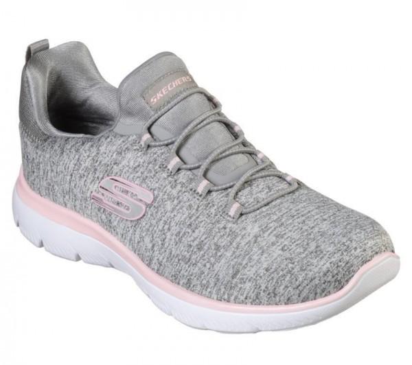 Skechers Summits - Quick Getaway Damen Sneaker 12983 (Grau-GYLP)