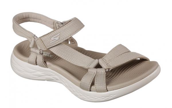 Skechers On The Go 600 - Brilliancy Damen Sandale 15316 (Beige-NAT)