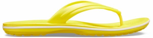Crocs Crocband Flip Zehentrenner (Lemon/White)