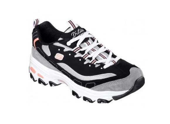 Skechers D'Lites New Journey Damen Sneaker 11947 (Schwarz-BKWG)