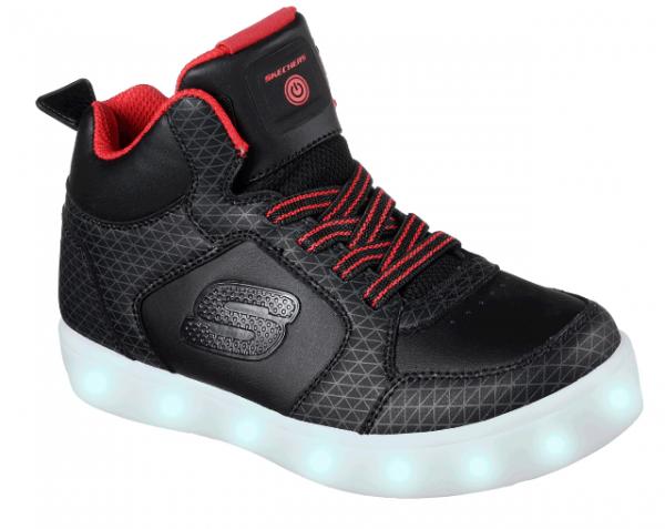 Skechers S Lights: Energy Lights – Tarvos Kinder Sneaker (Schwarz-BKRD)