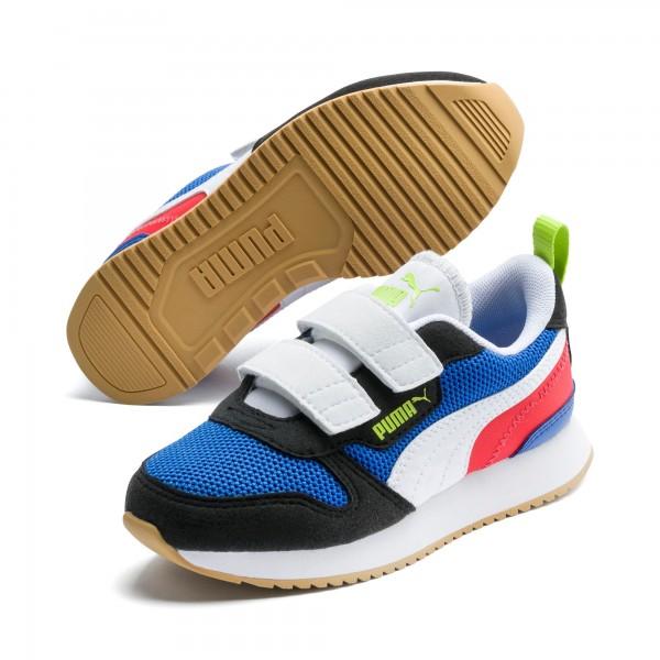 Puma R78 V PS Kinder Sneaker 373617 (Blau 03)