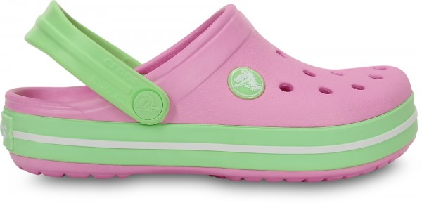 Crocs Crocband Kinder (Carnation/Green Glow)