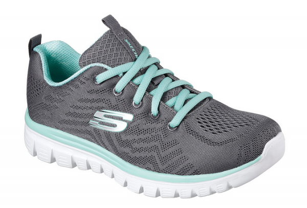 Skechers Graceful - Get connected Damen Sneaker 12615 (Grau-CCGR)