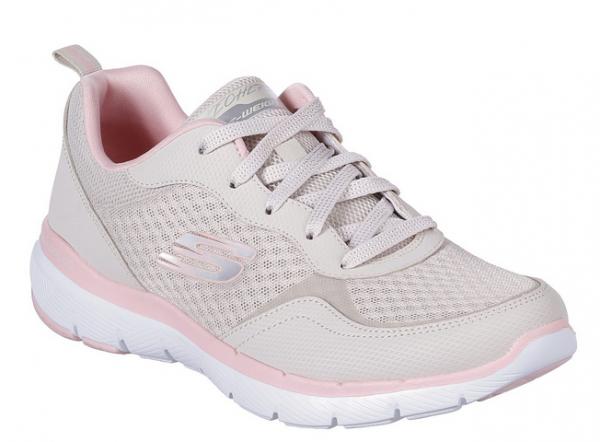 Skechers Flex Appeal 3.0 - Go Forward Damen Sneaker 13069 (Beige-NTPK)