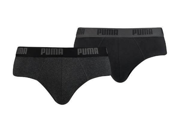 Puma 2er Pack Basic Brief Herren Unterwäsche 521030001 (Grau 691)