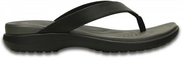 Crocs Capri V Flip Damen Zehentrenner (Black/Graphite)