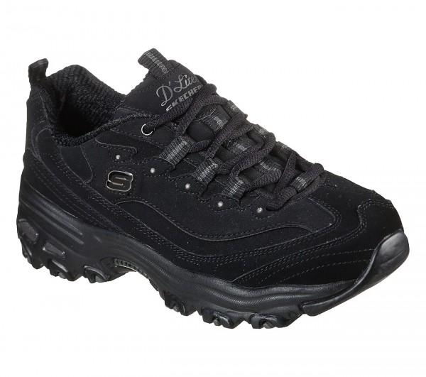 Skechers D'Lites - Play On Damen Sneaker 11949 (Schwarz-BBK)