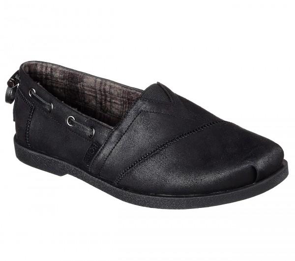 Skechers Bobs Chill Luxe - Buttoned Up Damen Schuhe 33731 (Schwarz-BBK)