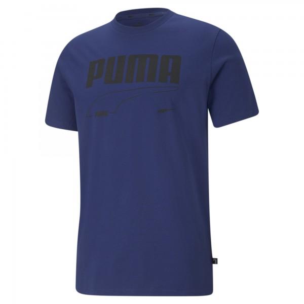 Puma Rebel Tee Herren T-Shirt 585738 (Blau 12)