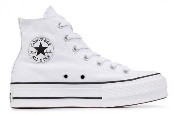 Converse Chucks Taylor All Star Lift Hi Damen Sneaker 560846C (Weiß)