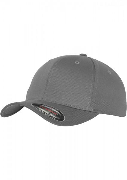 Flexfit Wooly Combed Baseball Cap (Grey-00111)