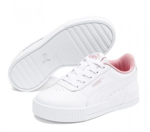 Puma Carina L PS Kinder Sneaker 370678 (Weiß 13)
