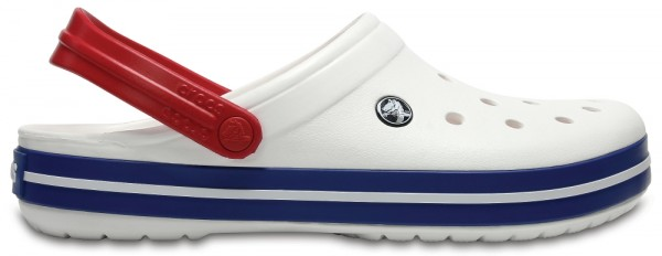 Crocs Crocband Clog (White/Blue Jean)