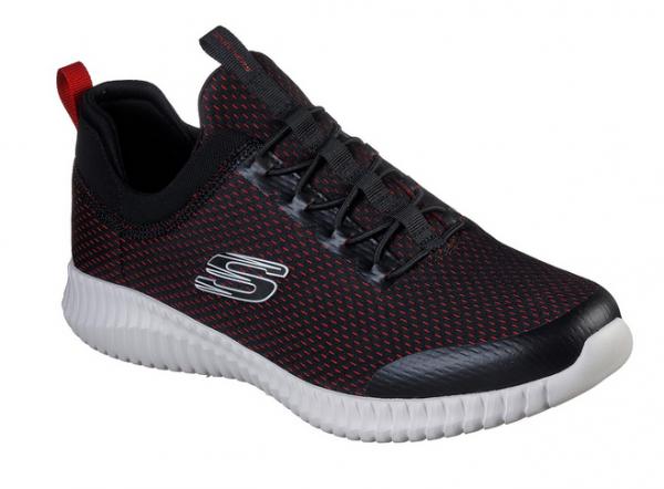 Skechers Elite Flex - Belburn Herren Sneaker 52529 (Schwarz-BKRD)
