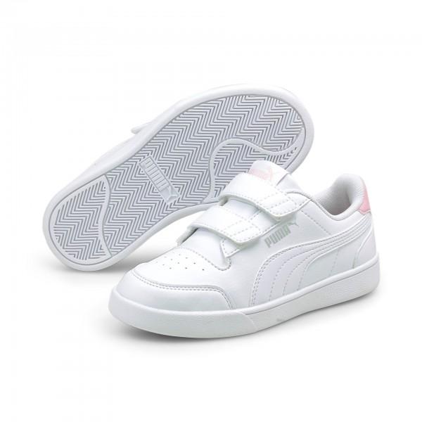 Puma Shuffle V PS Kinder Sneaker 375689 (Weiß 04)