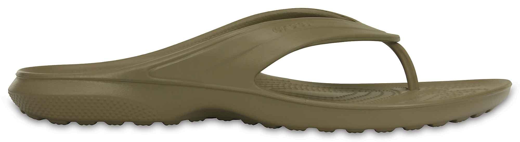 5873b610a525 Crocs Classic Flip (Khaki)