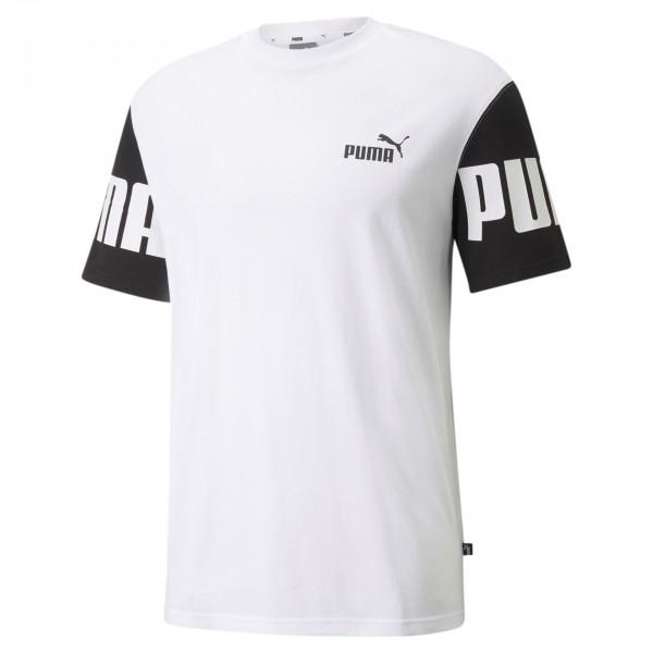 Puma Power Colorblock Tee Herren T-Shirt 589428 (Weiß 02)