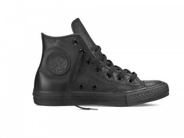 Converse Chucks Taylor All Star Hi Leder Sneaker 135251C (schwarz mono)