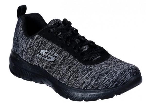 Skechers Flex Appeal 3.0 – Insiders Damen Sneaker 13067(Schwarz/Grau-BKCC)