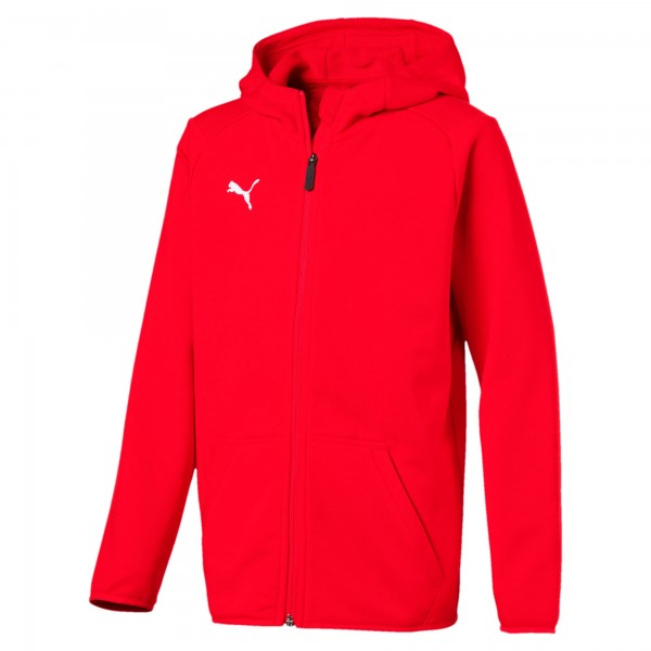 Puma LIGA Casuals Jr Kinder Sweatjacke 655938 (Rot 01)