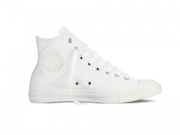 designer fashion 28e94 29126 Converse Chucks Taylor All Star Leder Hi Monochrome Sneaker 1T406 (weiß)