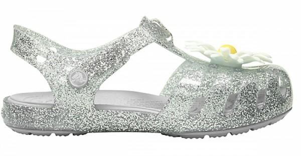 Crocs Isabella Charm Kinder Sandale (Silver)