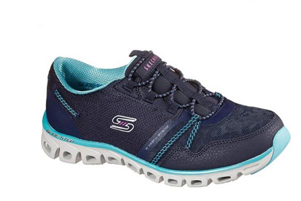 Skechers Glide Step - Act Nice Damen Sneaker 104085 (Blau-NVBL)