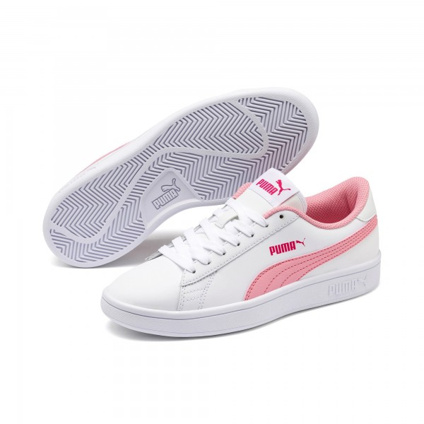 Puma Smash v2 L Jr Kinder Sneaker 365170 (Weiß 18)