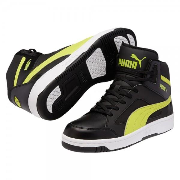 Puma Rebound v2 Hi Herren Sneaker 356723 (Schwarz/Grün 02)