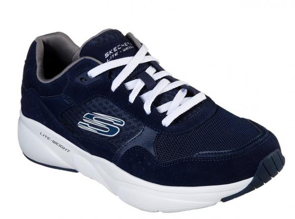 Skechers Meridian - Ostwall Herren Sneaker 52952 (Blau-NVW)