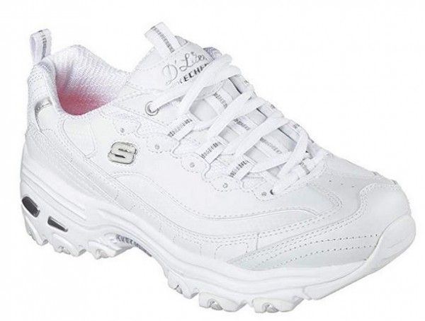 Skechers D'Lites - Fresh Start Damen Sneaker (Weiß-WSL)