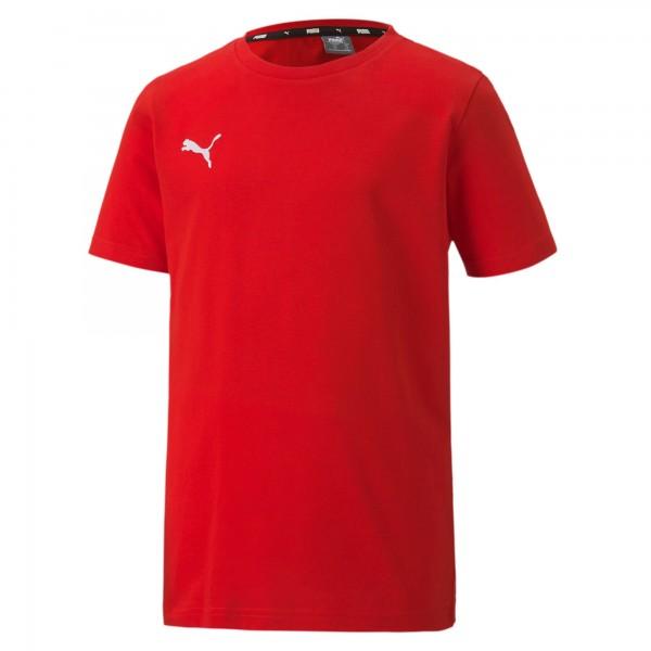 Puma TeamGOAL 23 Casuals Tee Jr Kinder T-Shirt 656709 (Rot 01)