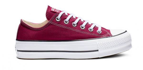 Converse Chuck Taylor All Star Lift Ox Low Damen Sneaker 563496C (Rot)
