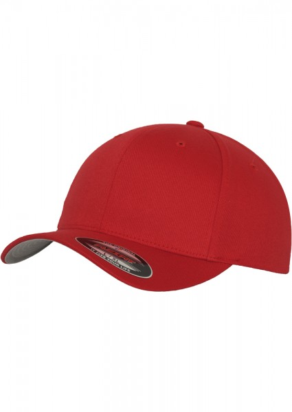 Flexfit Wooly Combed Baseball Cap (Red-00199)