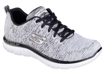 Skechers Flex Appeal 2.0 High Energy Damen Sneaker 12756 (Weiß/Schwarz-WBK)