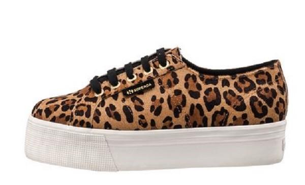 Superga 2790 Fancotw Damen Sneaker (Leopardenprint)