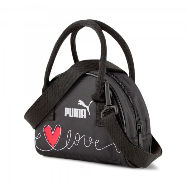 Puma Valentines Mini Grip Cor Handtasche 078232 (Schwarz 01)